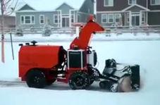 برف روب قدرتمندی که برای فعالیت، نیازی به نیروی انسانی ندارد!
