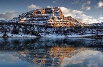 """چشمانداز زیبا و زمستانی از تالاب """"ازگن"""""""