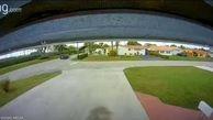 فیلم/ شکار لحظه برخورد هواپیما و خودرو در فلوریدا