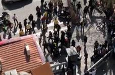 حمله موتورسواران به هواداران پرسپولیس در مقابل هتل این تیم در اصفهان