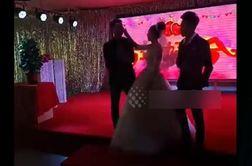 لحظه فرو ریختن ناگهانی سقف هتل در مراسم عروسی