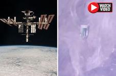 رویت سفینه فرازمینیها در نزدیکی ایستگاه فضایی!