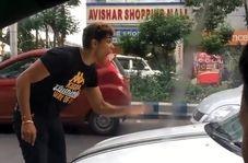 ببینید این راننده چطور عمدا مردی را زیر میگیرد!