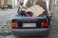 خسارات زمین لرزه 5.9 ریشتری در تازه آباد کرمانشاه