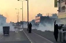 شلیک گاز اشک آور به سوی معترضان بحرینی