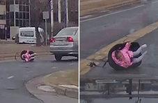 صحنه عجیبی که یک راننده با آن مواجه شد