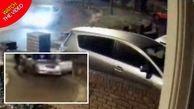 لحظه ربوده شدن زن جوان در خیابان خلوت