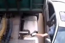 روش حرفهای یک سارق برای دزدی گازوئیل