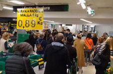 هجوم مردم به سوپرمارکت ها در پایتخت اسپانیا