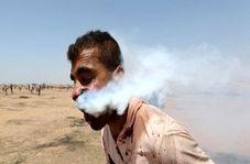 شلیک مستقیم گلوله گاز اشک آور به صورت جوان فلسطینی