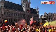 استقبال پر شور مردم بلژیک از تیم ملیشان در بروکسل