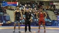 برد عبدولی در نیمه نهایی کشتی وزن 71 مقابل آذربایجان