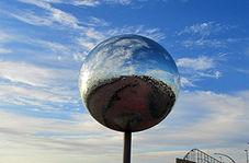 آمدن آسمان به زمین با ساخت آینه ای غولپیکر + فیلم