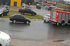 آتش گرفتن یک خودرو در زمان مناسب!