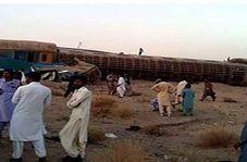 فیلمی از حادثه خروج قطار زاهدان به تهران از روی ریل