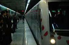 حرکت قطار یلدا در متروی تهران