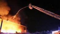 آتش سوزی مهیب در محل انباشت زباله در میلان