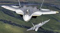 خودنمایی پیشرفته ترین جنگنده روسیه در آسمان