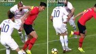 پاسخ حرفهای فوتبالیست کرهای به یک نژادپرست در وسط زمین!
