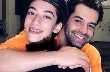 عشق و عاشقی لورفته رضا بهرام با دختر جوان+فیلم و عکس