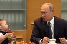 بچهداری جالب رئیس جمهور روسیه