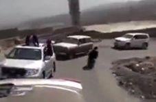 تصادف موتور با خودرو در سر پیچ در کاروان عروسی+ فیلم