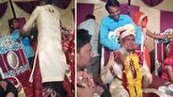 واکنش شدید داماد به شوخی بی موقع فامیل عروس!