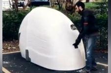 خلاقیت در ساخت پارکینگ موتورسیکلت
