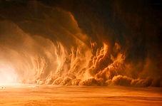 لحظه وحشتناک وقوع طوفان شن در چین