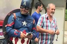نامزد انتخاباتی برزیل در لباس سوپرمن و مرد عنکبوتی!