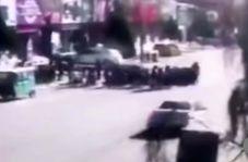 حادثه وحشتناکی که راننده در مقابل یک مدرسه رقم زد!