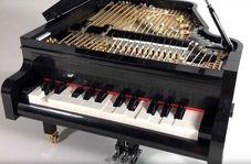 این پیانوی ساخته شده با لگو آهنگ مینوازد