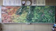 هنر شگفت انگیز دانش آموزان ژاپنی روی تخته سیاه