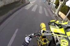 عجیبترین شیوه دستگیری یک موتورسوار توسط پلیس