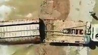تلاش ارتش برای ساخت پل شناور در اهواز
