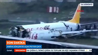 هواپیمای مسافربری در ترکیه از باند خارج شد/+فیلم