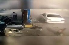 انفجار مخزن گاز سی ان جی خودرو پژو 405