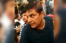 حمله زن قانونشکن به پلیس راهنماییورانندگی!