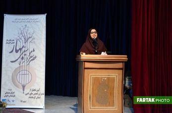 شعرخوانی کوثرمهدی آبادی در حضور روسای انجمنهای ادبی