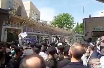 درگیری طرفداران ضرغامی با نیروهای انتظامی