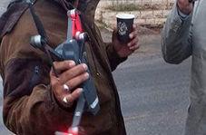 لحظه ساقط کردن پهپاد اسرائیلی توسط شهروند لبنانی