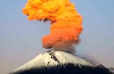 فوران مهیب آتشفشان در فیلیپین