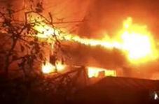 رشادت آتشنشانان در مهارشعلههای مهیب آتش در چهارراه استانبول