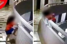لحظه وحشتناک سقوط دختر خردسال از بالکن طبقه ۱۱ هتل