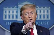 ترامپ به یک خبرنگار: ماسکت را بردار بعد سوال بپرس!