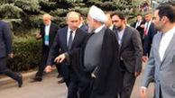 پیادهروی و گفتوگوی روحانی و پوتین در ارمنستان