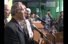 لحظه فوت پدر شهیدان «فناخسرو» حین سخنرانی