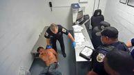 لحظه جراحت شدید متهم در بازداشتگاه پلیس