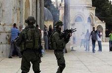 یورش نظامیان صهیونیست به نمازگزاران فلسطینی در مسجدالاقصی + فیلم