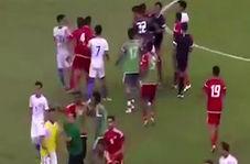 نزاع دسته جمعی امیدهای امارات و مالزی در بازی دوستانه!